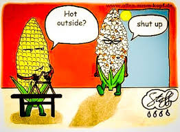 Hot Popped Corn On Cob